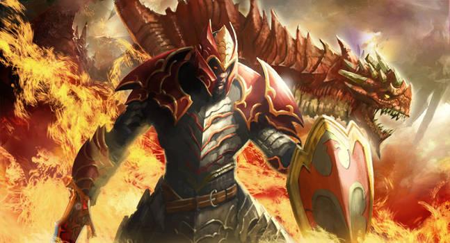 Dragon Knight DOTA 2 by longai