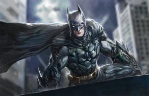Batman chilling by longai