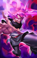 Super Saiyan Rose Goku Black by longai