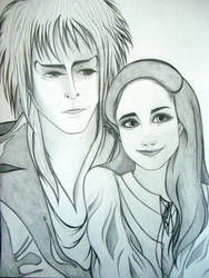 Jareth + Sarah by Nonsensicle