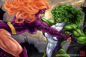 She-Hulk Titania 'Rivals' by MikazukiArt