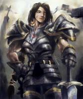Lady Grey Warden by MikazukiArt