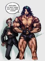 Pretty Pls Muscle by MikazukiArt
