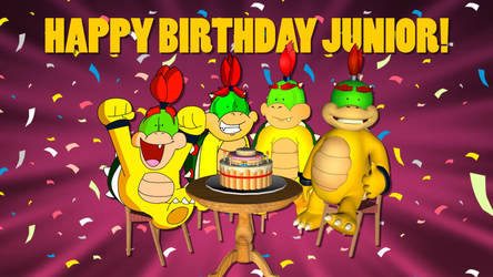A day with Bowser Jr 8th anniversary! by dannywaving