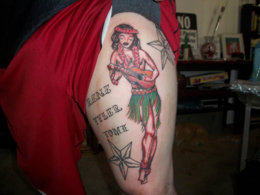 Sailor Jerry Hula Girl Tattoo By Hart101 On Deviantart