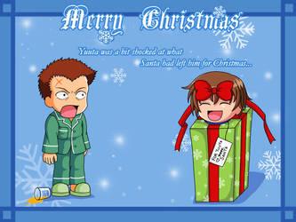 Merry Xmas- Fuji and Yuuta by snowbunnyluv