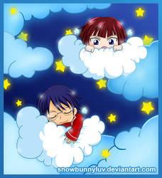Cloud- Oshitari and Gakuto by snowbunnyluv