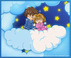 Cloud- Syaoran and Sakura by snowbunnyluv