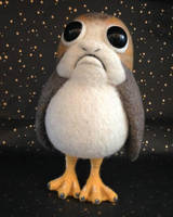 OOAK Needle Felted Porg by Sarsie