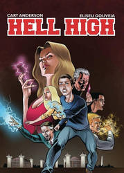 HELL HIGH graphic novel cover by EliseuGouveia