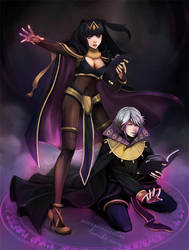 Dark Mages by tea-and-dreams