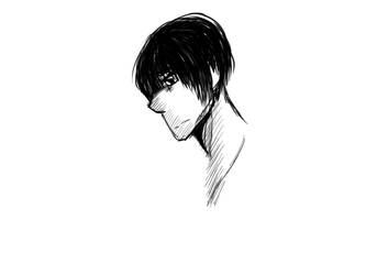 Male sketch two by Brevejust