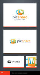 Pic Share Logo Template by LogoSpot