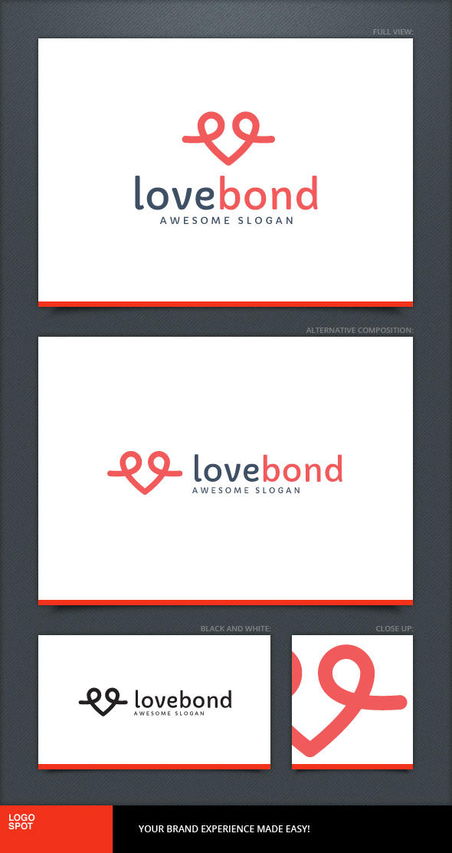 Love Bond Logo Template by LogoSpot