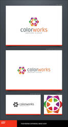 Color Works Logo Template by LogoSpot