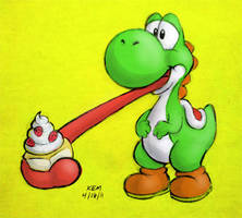 Cake for Yoshi by souldreamx