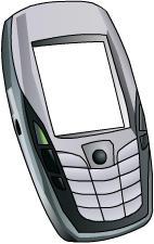 N6600 handphone vector by irenechew