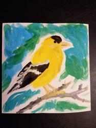 Goldfinch watercolor by Kyria-Neko-Chan