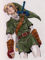 Link OoT sketch colored by zelda-Freak91