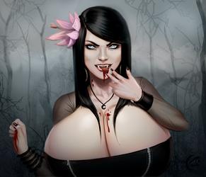 Speedpaint: Vampire by mangrowing