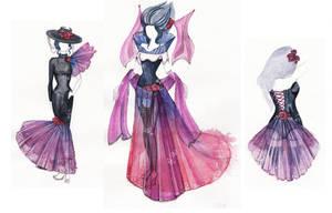 Fashion design with transparent fabrics by Paskhalidi