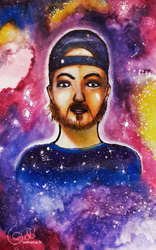 Portrait of a friend in the stars by Odhana