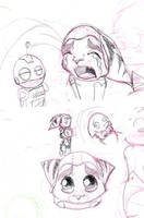 Ratchet and CLank doodles by kazifasari