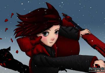 RWBY Red - my first anime drawing by MetaDragonArt