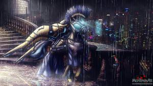 Cybernetic Royal Pegasus Guard by MetaDragonArt