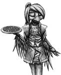 Chica the Waitress sketch by MetaDragonArt