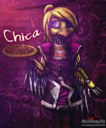 Chica the Waitress by MetaDragonArt