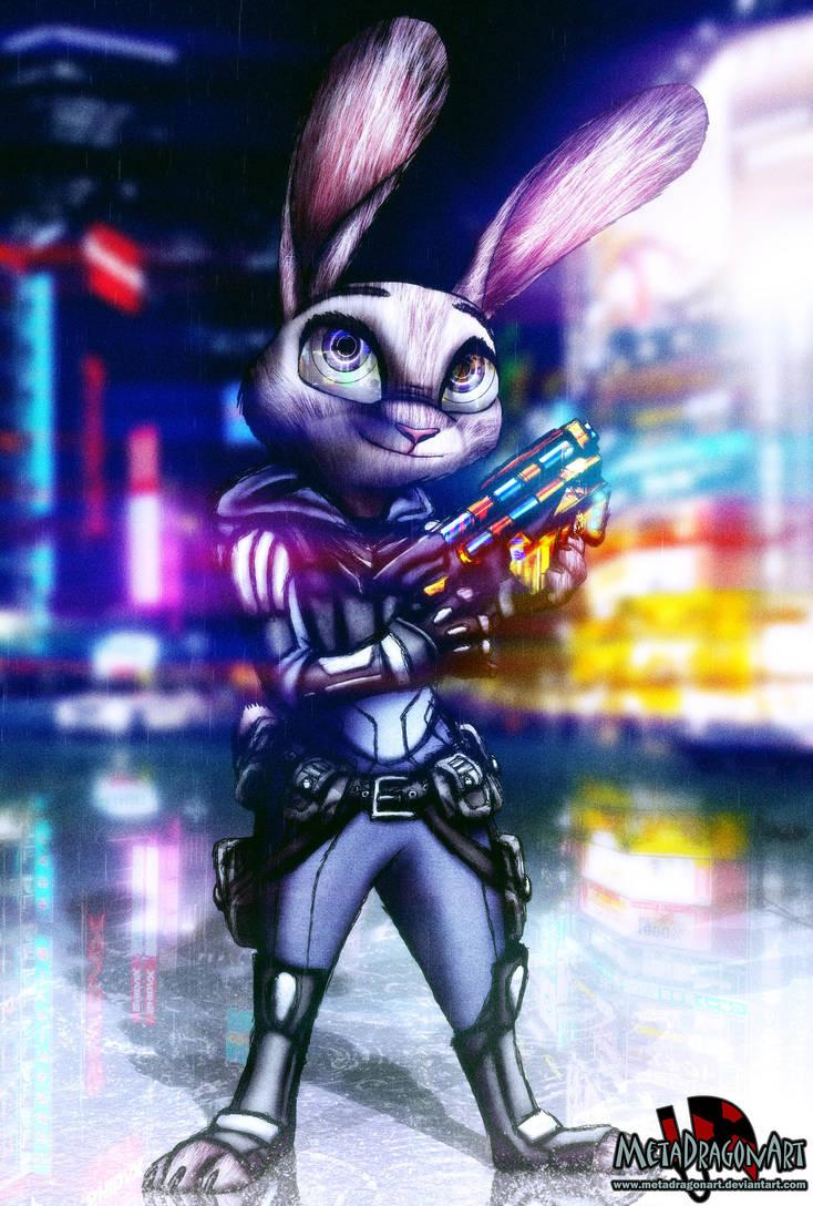 Cyberpunk Judy Hopps by MetaDragonArt