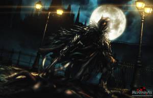 A Night Elf on the Hunt by MetaDragonArt