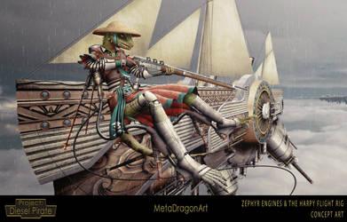 Zephyr Engines and The Harpy Flight Rig - P:DP by MetaDragonArt