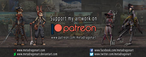 SUPPORT MY ARTWORK ON PATREON! by MetaDragonArt