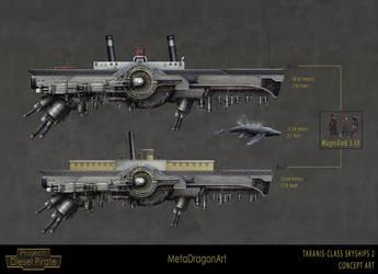 Taranis-Class Skyships 2 by MetaDragonArt