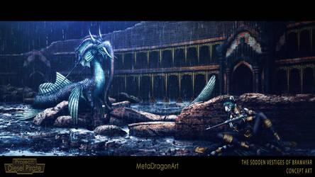 The Sodden Vestiges Of Bramayar - P:DP by MetaDragonArt