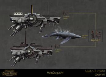 Taranis-Class Skyships 3 by MetaDragonArt