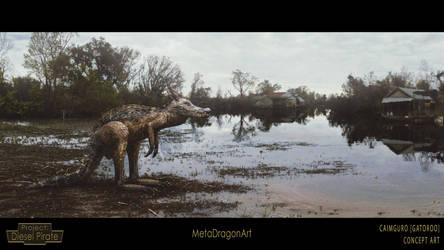Caimguro (Gatoroo) - Project: Diesel Pirate by MetaDragonArt