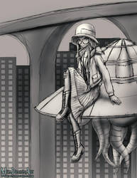 Flapper Girl Futaba (PATREON SKETCH) by MetaDragonArt