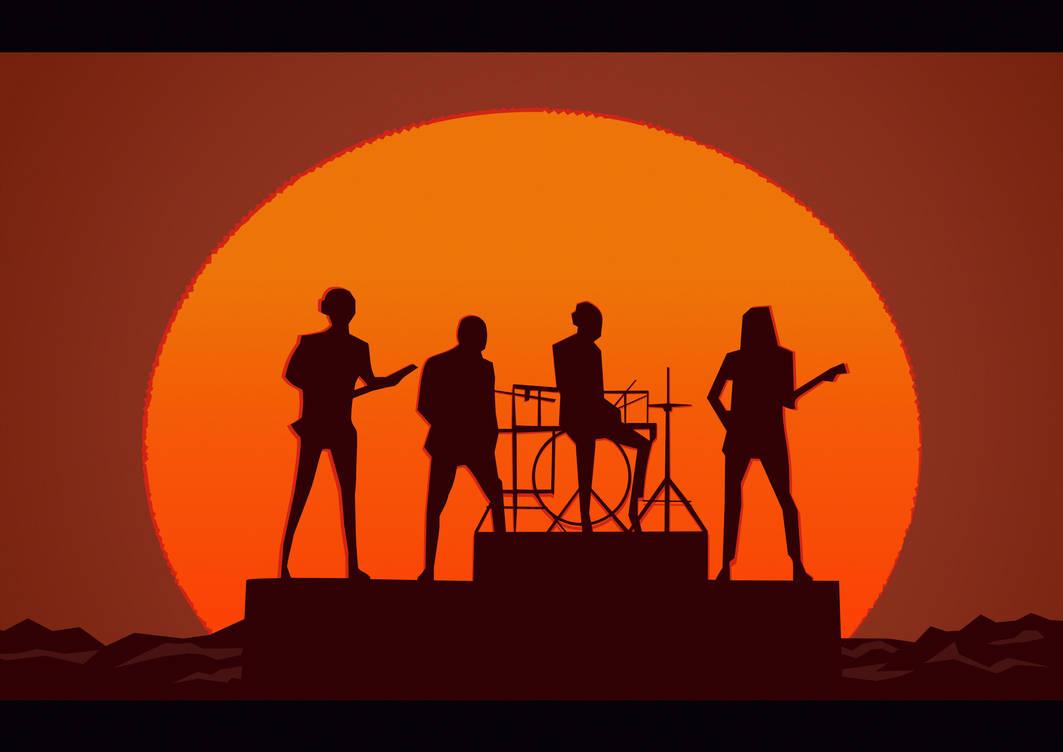 Daft Punk- Get lucky sunset Random Access Memories by ElijahNewville
