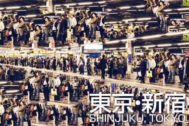 Shinjuku people by llcheesell