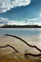 Winter lake by vlastas