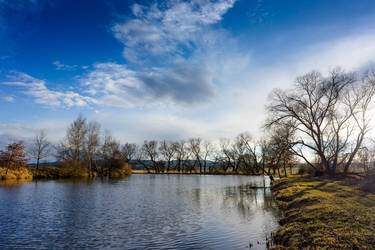 Small blue lake by vlastas