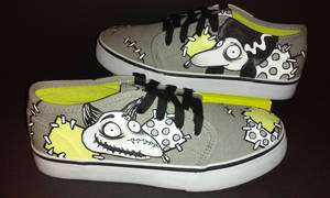 Frankenweenie Sparky Persephone handpainted shoes by rachelliles352