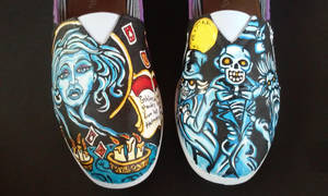 Handpainted Haunted Mansion Slide On Shoes by rachelliles352