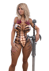 STOCK Caramel Bimbo Amazon - Carapace Fairy Armor by ambient-avalancher