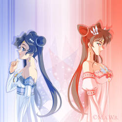 Sisters Mika and Mizuki by goddess-of-the-moon1