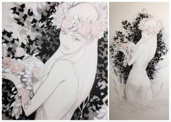 Art Raffle: Flower Crown  by ZI-PA