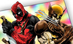 Wolverine and Deadpool by richyunspoken